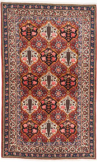 Traditional Red Area rug 5x8 Persian Hand-knotted 203644