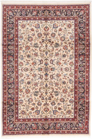 Traditional Blue Area rug 6x9 Persian Hand-knotted 203485