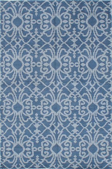 Transitional Blue Area rug 5x8 Indian Hand-knotted 222240