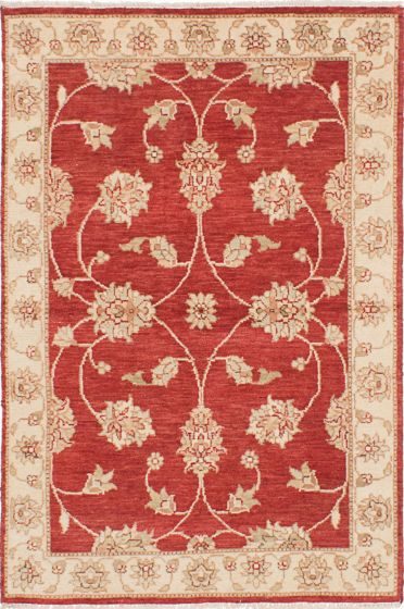 Traditional Red Area rug 3x5 Indian Hand-knotted 223926
