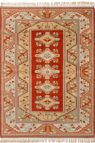Floral  Traditional Red Area rug 5x8 Turkish Hand-knotted 244781
