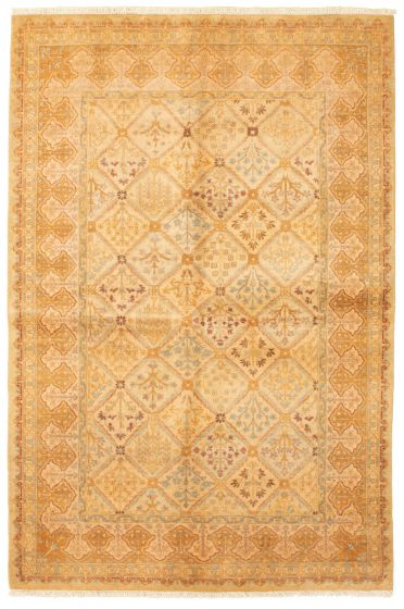 Bordered  Traditional Brown Area rug 5x8 Pakistani Hand-knotted 331239