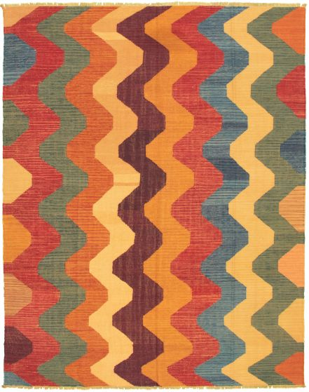 Casual  Transitional Multi Area rug 6x9 Turkish Flat-weave 335989
