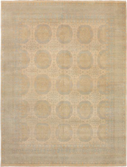 Bohemian  Traditional Ivory Area rug 6x9 Indian Hand-knotted 271593