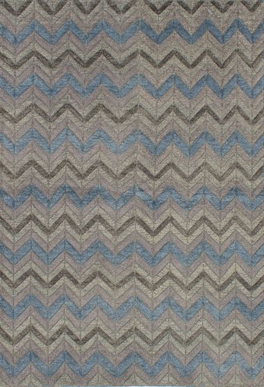 Bohemian  Transitional Ivory Area rug 5x8 Indian Hand-knotted 219288