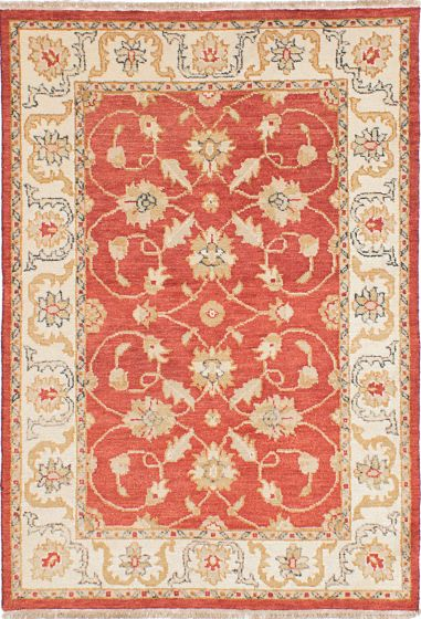 Traditional Red Area rug 3x5 Indian Hand-knotted 223854