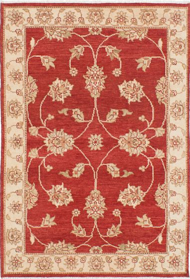 Traditional Red Area rug 3x5 Indian Hand-knotted 223918