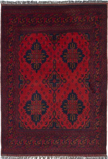 Traditional  Tribal Red Area rug 3x5 Afghan Hand-knotted 235819