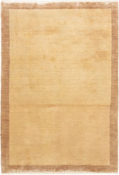 Bordered  Transitional Ivory Area rug 3x5 Indian Hand-knotted 280232