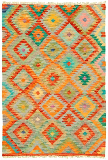 Flat-weaves & Kilims  Geometric Multi Area rug 3x5 Turkish Flat-weave 330195