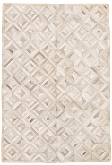 Accent  Transitional Grey Area rug 5x8 Argentina Handmade 331708