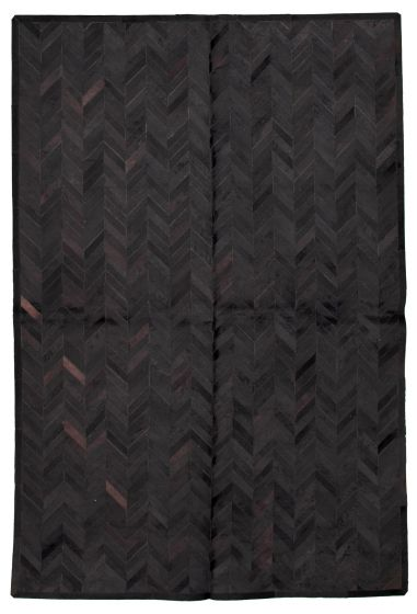 Accent  Transitional Black Area rug 5x8 Argentina Handmade 331714