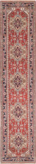Floral  Traditional Brown Runner rug 12-ft-runner Indian Hand-knotted 223041