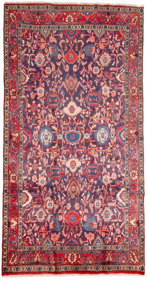 Traditional  Tribal Blue Area rug 5x8 Persian Hand-knotted 310090