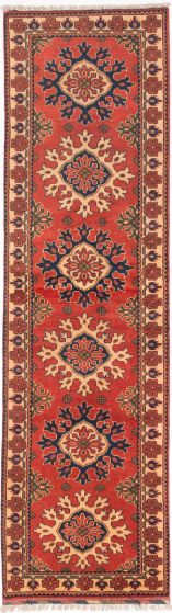 Tribal Brown Runner rug 10-ft-runner Afghan Hand-knotted 203027