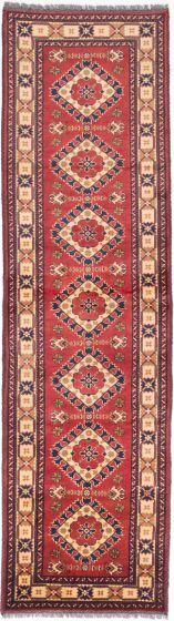 Tribal Brown Runner rug 11-ft-runner Afghan Hand-knotted 203030