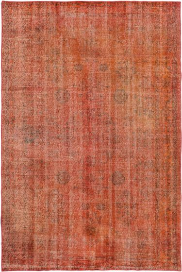 BohemianTransitional Red Area rug 5x8 Turkish Hand-knotted 163230