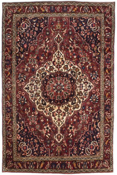 Traditional Red Area rug 6x9 Persian Hand-knotted 206974