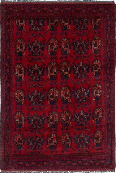 Traditional  Tribal Red Area rug 3x5 Afghan Hand-knotted 236267