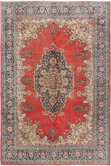 Bordered  Traditional Brown Area rug 6x9 Turkish Hand-knotted 281043