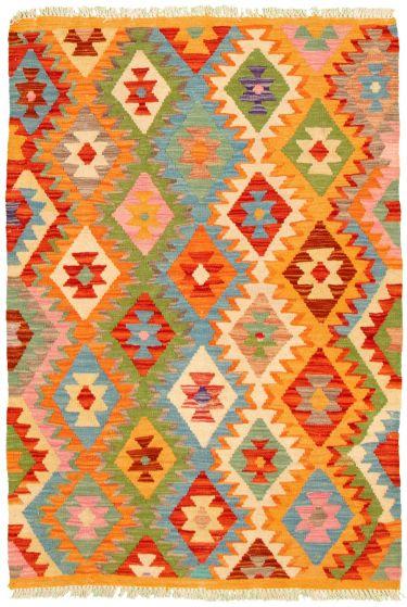Flat-weaves & Kilims  Geometric Multi Area rug 3x5 Turkish Flat-weave 330232
