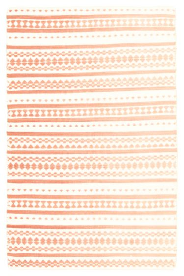 Flat-weaves & Kilims  Transitional Ivory Area rug 3x5 Indian Flat-weave 344475
