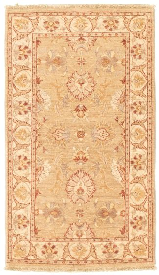 Bordered  Traditional Green Area rug 3x5 Afghan Hand-knotted 330447
