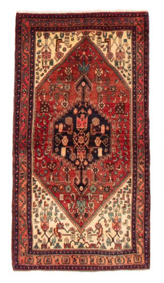 Bordered  Traditional Red Area rug Unique Persian Hand-knotted 358668
