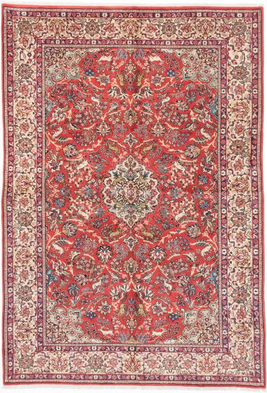 Traditional Brown Area rug 6x9 Persian Hand-knotted 202678