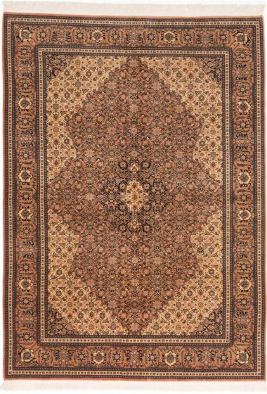 Traditional Brown Area rug 6x9 Persian Hand-knotted 202755