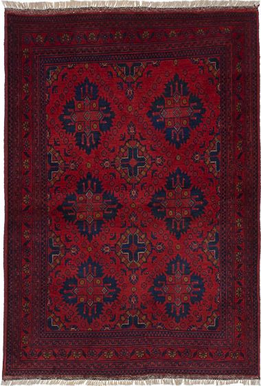 Traditional  Tribal Red Area rug 3x5 Afghan Hand-knotted 236127