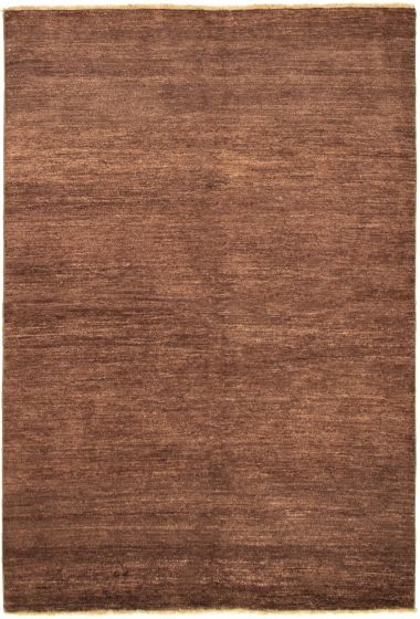 Gabbeh  Tribal Brown Area rug 5x8 Indian Hand-knotted 318447