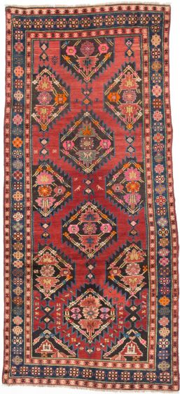 Traditional Red Area rug Unique Turkish Hand-knotted 202314