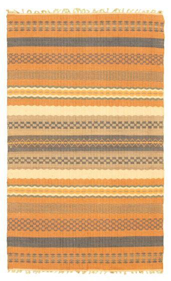 Flat-weaves & Kilims  Transitional Brown Area rug 3x5 Indian Flat-weave 344534