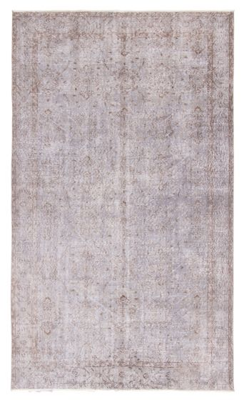 Bordered  Transitional Brown Area rug 5x8 Turkish Hand-knotted 362964