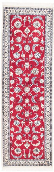 Traditional Red Runner rug 6-ft-runner Persian Hand-knotted 202588
