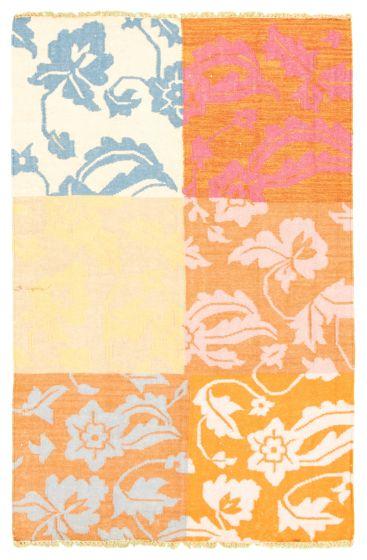 Flat-weaves & Kilims  Transitional Orange Area rug 3x5 Turkish Flat-weave 344479