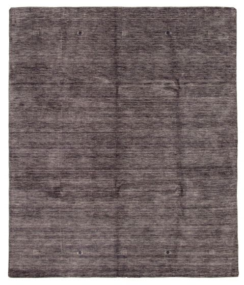 Gabbeh  Tribal Grey Area rug 6x9 Indian Hand-knotted 331221