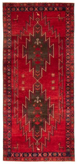 Bordered  Vintage Red Area rug Unique Persian Hand-knotted 367115