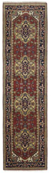 FloralTraditional Orange Runner rug 10-ft-runner Indian Hand-knotted 207573