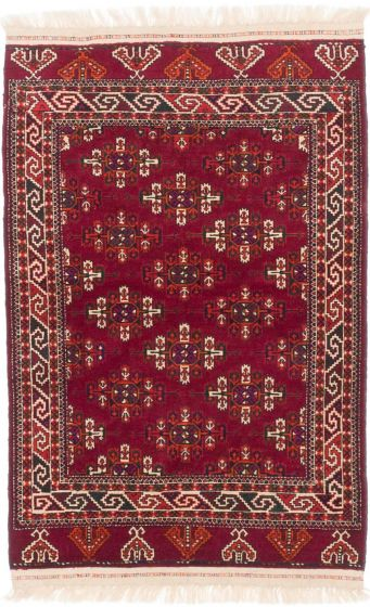 Traditional Red Area rug 3x5 Russia Hand-knotted 201460
