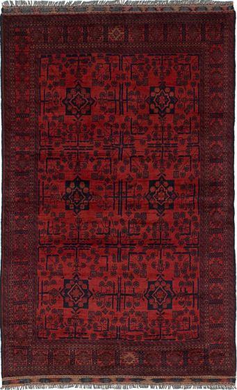 Traditional  Tribal Brown Area rug 3x5 Afghan Hand-knotted 236250