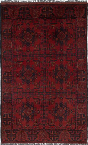 Traditional  Tribal Red Area rug 3x5 Afghan Hand-knotted 236301