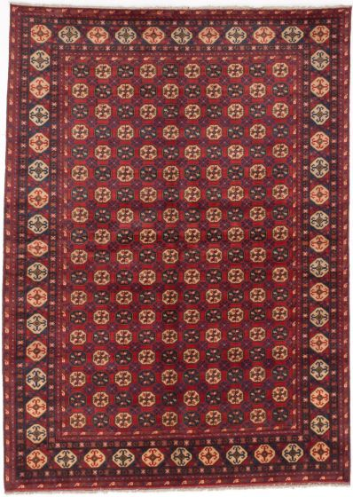 Traditional Red Area rug 6x9 Afghan Hand-knotted 203218