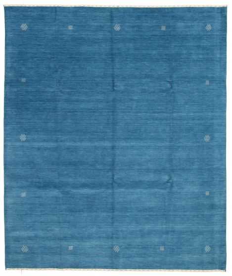 Gabbeh  Tribal Blue Area rug 6x9 Indian Hand-knotted 331231