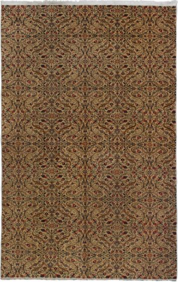 Traditional  Vintage Ivory Area rug 6x9 Turkish Hand-knotted 279690