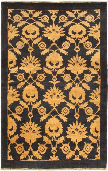 Traditional Blue Area rug 3x5 Afghan Hand-knotted 35941