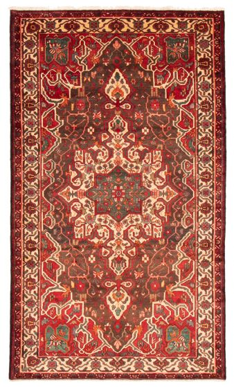 Bordered  Traditional Red Area rug 6x9 Persian Hand-knotted 358620