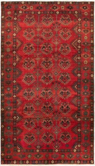Bordered  Traditional Red Area rug Unique Turkish Hand-knotted 318535