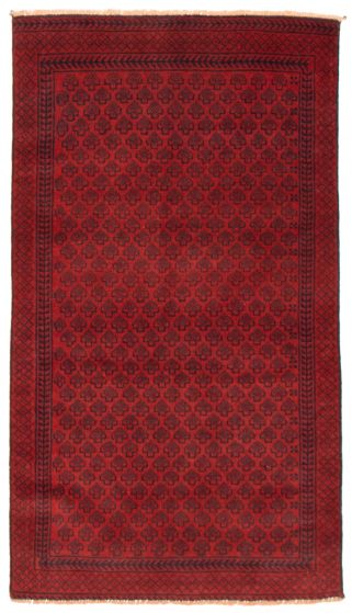 Tribal Red Area rug 3x5 Afghan Hand-knotted 367563